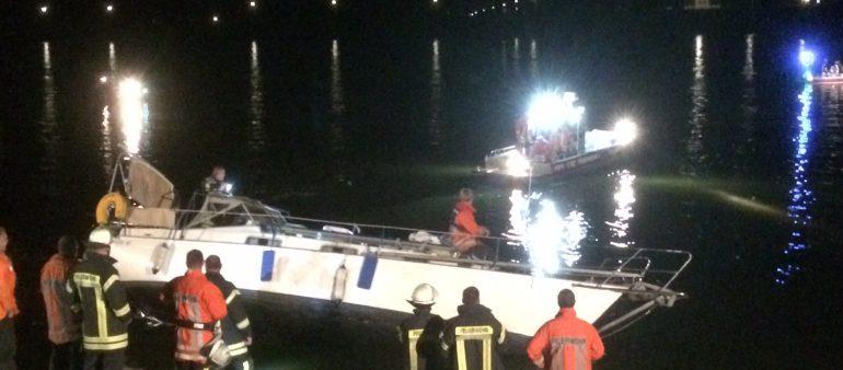 Großeinsatz bei Bootsunfall in Fliegenberg