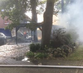 Carportbrand in Heidenau