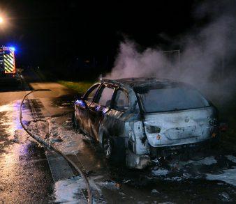 Pkw auf A7 bei Egestorf ausgebrannt