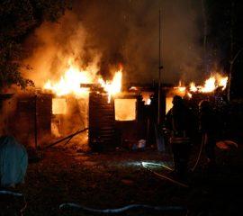 13.10.17 : Erneut Feuer auf dem Campingplatz Tespe