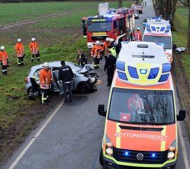 24.12.17 : Schwerer Verkehrsunfall auf der K22
