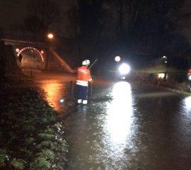 """03.01.18 : Sturmtief """"Burglind"""" sorgt für diverse Einsätze für die Feuerwehren im Landkreis Harburg"""