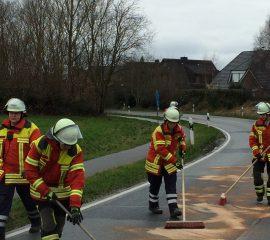 05.01.18 : Mehrere Feuerwehren bei kilometerlanger Ölspur zwischen Fliegenberg und Bullenhausen im Einsatz