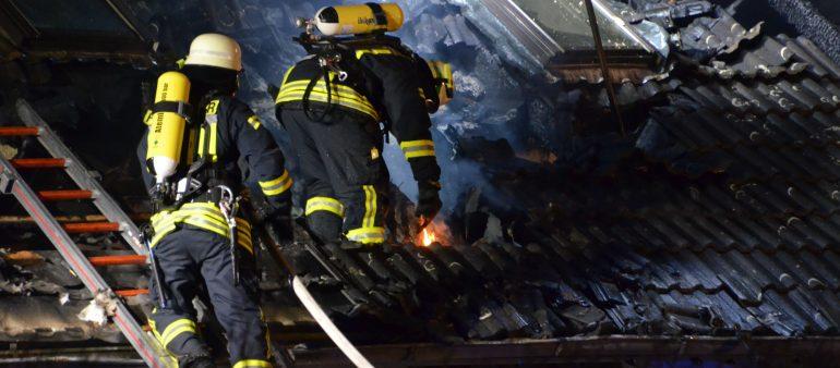 07.01.2018: Einfamilienhaus in Tostedt nach Großbrand unbewohnbar