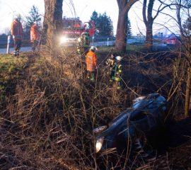 01.02.18 : Glätteunfall in Oldershausen ging glimpflich aus