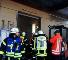 Feuer in einen Gewerbebetrieb in Tönnhausen