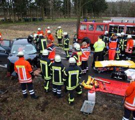 22.03.18 : Schwerer Unfall auf der Burgstraße in Bahlburg
