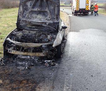 03.04.18 : Fahrzeugbrand an der Anschlussstelle Evendorf der BAB 7