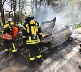 23.04.2018: brennender Pkw auf BAB7