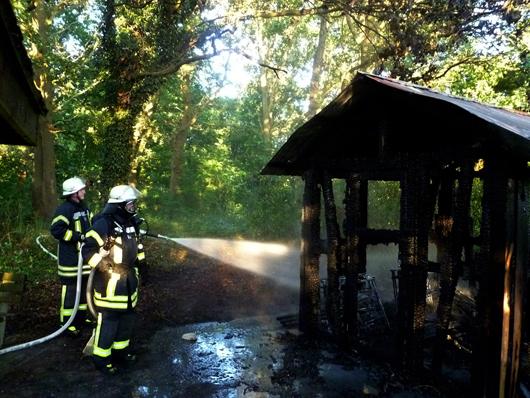 14.07.18 : Schuppen brannte auf dem Gelände der Berufsbildenden Schule in Winsen