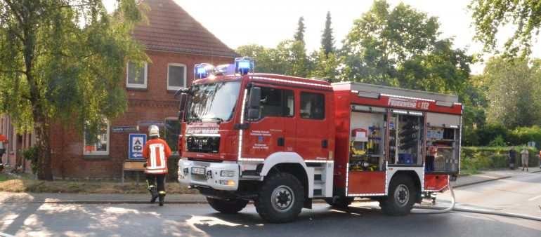 23.08.2018: Feuer in Mehrfamilienhaus in Garlstorf