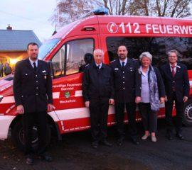 Neues Mehrzweckfahrzeug MZF an die Feuerwehr Meckelfeld übergeben