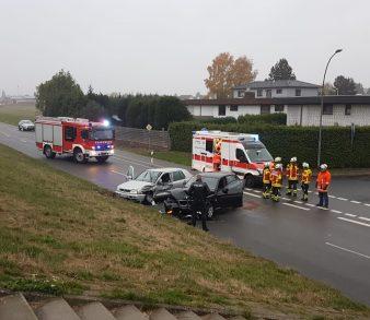 05.11.18 : Verkehrsunfall in Over forderte zwei Verletzte