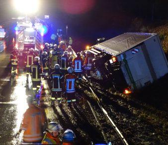 10.12.18 : LKW-Unfall auf der BAB7