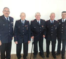 Hohe Ehrungen für verdiente Feuerwehrmitglieder
