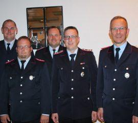 Vier Fliegenberger Feuerwehrleute für langjährige Mitgliedschaft ausgezeichnet
