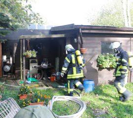 12.10.17 : Schnelles Eingreifen der Feuerwehr verhindert schlimmeres bei Brand in Tespe