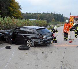 Verkehrsunfall auf der BAB7