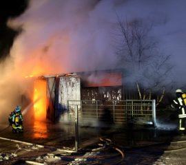 Großbrand in Rottorf – Vier Feuerwehren im Einsatz