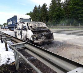 23.05.2018: Brennender Kleinbus auf BAB7