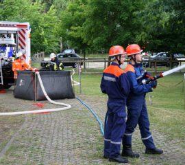 Besondere Übung der Jugendfeuerwehr Winsen – Wasserförderung stand im Mittelpunkt