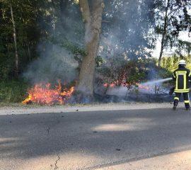 24.07.2018: Waldbrand bei Salzhausen verläuft glimpflich